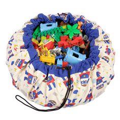 Sac de rangement et tapis de jeu en coton motif Super Héros signé Play and go.Ce sac leur permettra de ranger facilement leurs jouets, pour le bonheur des parents, et de les transporter