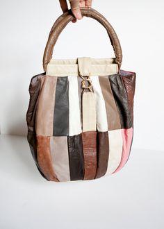 Vintage Patched Leather Bag