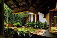 Tropical Garden Design, Home Garden Design, Interior Garden, Home And Garden, House Design, Courtyard Design, Courtyard House, Courtyard Ideas, Patio Design