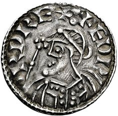 COIN FROM EDWARD THE CONFESSOR'S REIGN / Edward the Confessor, son of Æthelred the Unready and Emma of Normandy, was one of the last Anglo-Saxon kings of England and is usually regarded as the last king of the House of Wessex, ruling from 1042 to Anglo Saxon Kings, Anglo Saxon History, European History, British History, History Of England, Early Middle Ages, Gold And Silver Coins, Antique Coins, World Coins