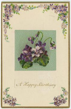 Vintage Birthday Postcard (c.1910)
