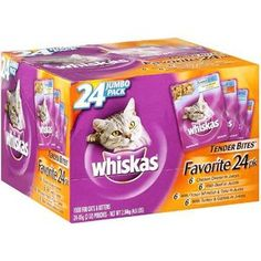 Whiskas Tender Bites Favorite Selections Variety Pack Wet Cat Food 3 Ounces (Pack of Snack Recipes, Cooking Recipes, Food Pack, Cat Food, Cool Things To Buy, Pouch, Packing, Nutrition