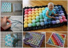 DIY Bubble Puff Biscuit Baby Quilt Tutorial