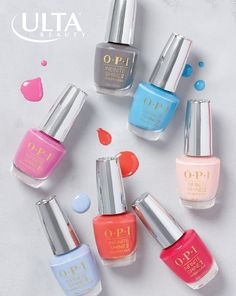 Layer on the lacquer. The OPI Infinite Shine collection delivers rich, vivid colors and gel-like durability. Ultra Beauty, Nail Polish Designs, Nail Polish Colors, Opi Polish, Cute Nails, Pretty Nails, My Nails, Mani Pedi, Pedicure