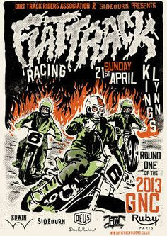 Set of 6 posters - DTRA Dirt Track Riders Association Flattrack Racing in the UK | Shop