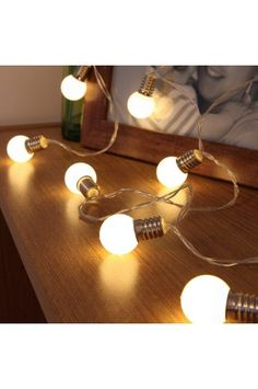 Perhaps to be described as the mini-festoon battery light string? These fun sized battery lights will add light and enjoyment to either your vanity mirror, children's bedroom, a glass vase or to any window display.