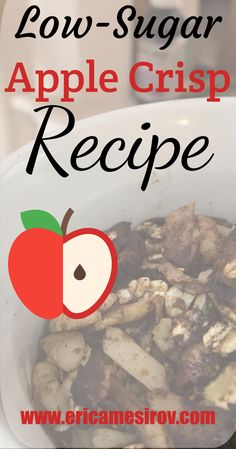 A delicious slow cooker apple crisp with none of the guilt. Low-sugar, gluten-free, and yummy as heck. Try this healthy apple crisp today! Low Sugar Apple Crisp Recipe, Apple Crisp Recipes, Sugar Free Desserts, Sugar Free Recipes, Instant Pot, Chocolate Caramel Slice, Slow Cooker Apples, Healthy Sugar, Diabetic Foods