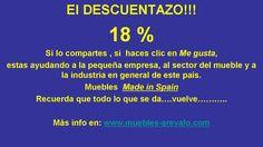Descuentos... mas información en www.muebles-arevalo.com