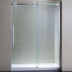 schon lindsay 60 in x 79 in semi framed shower enclosure with