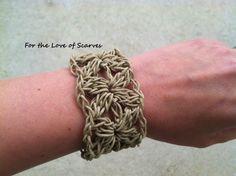 Renee's Cuff: Hemp Bracelet...pretty and easy to make bracelet...free pattern!