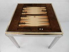 Willy Rizzo Backgammon Table | From a unique collection of antique and modern game tables at https://www.1stdibs.com/furniture/tables/game-tables/
