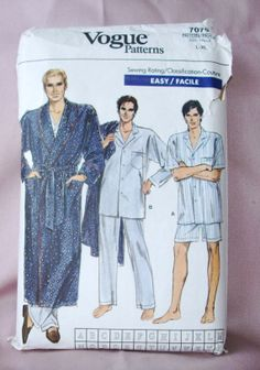 1987 Uncut  Easy Vogue  Pattern 7079  Men's by lovelylovepatterns, $6.00