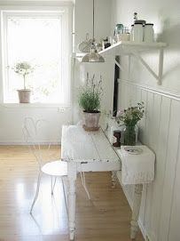 bright and white work area
