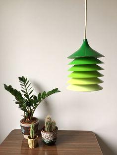 Vintage  Hängelampe Bent Gantzel Boysen, Ikea Lampe, 1970er, Skandinavisches Design, Made in Sweden, Eames, Panton von moovi auf Etsy