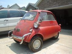 """This is a photo of an Isetta. It was the first car I drove as a """"probationary"""" driver. The stability of the """"three wheel"""" machine and the economy of the one cylinder engine impressed me."""
