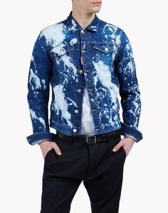 bleached denim jacket coats & jackets Man Dsquared2