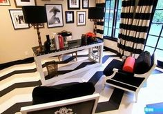 Black and White glam office