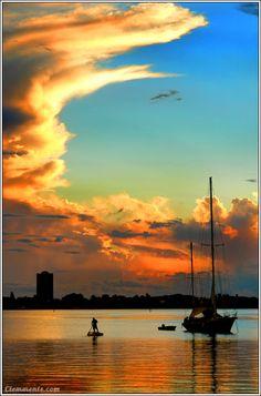 Sunset over Sarasota Bay