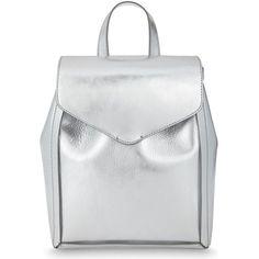 Loeffler Randall Mini leather backpack (11.395 UYU) ❤ liked on Polyvore featuring bags, backpacks, backpack, leather backpack, flap backpack, day pack backpack, strap backpack and loeffler randall backpack