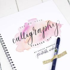 Calligraphy Starter Kit. The perfect gift for someone who would like to learn the art of calligraphy!