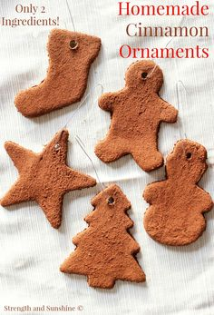 Healthy Holiday Inspiration  C B Homemade Cinnamon Ornaments Strength And Sunshine Rebeccagf All You Need Is  Ingredients To
