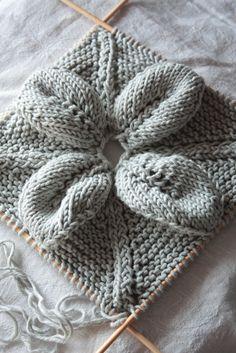 Inspiración Costura: Punto de hojas y encaje cuadrados