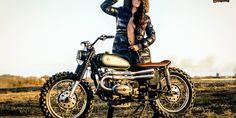 a custom scrambler made from an Ural motorcycle