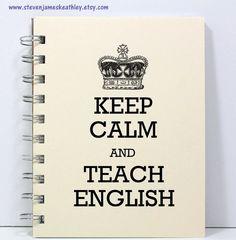 English Teacher Journal Notebook Diary by stevenjameskeathley, $8.00