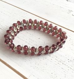 A personal favorite from my Etsy shop https://www.etsy.com/listing/275527104/beautiful-crystal-beads-bracelet-glass