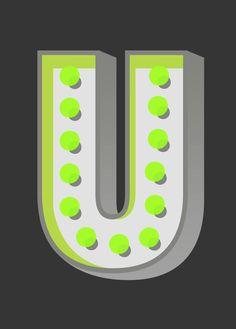 U / letters / upper case / alphabet / typography / design