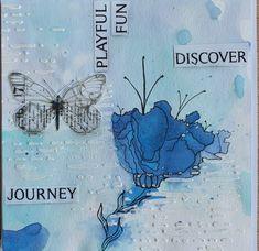 #mixedmedia #handmade #cards #timholtz #sprays #anjapeter #butterfly #inspired by #maremismallart boldness 👍