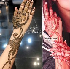 نقش حنا Mehndi Design Pictures, Mehndi Images, Back Henna, Menhdi Design, Mehandhi Designs, Unique Henna, Henna Drawings, Heena Design, Latest Mehndi Designs