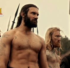 Clive Standen as Rollo Lothbrok from Vikings on History channel. This show makes my ovaries tingle....
