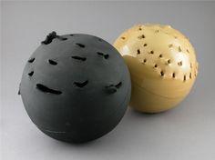 Sphere 1957 - Lucio Fontana - WikiPaintings.org