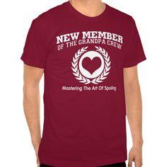New Member of the GRANDPA Crew T Shirt, Hoodie Sweatshirt