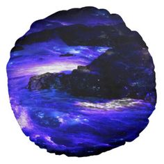 Amethyst Sapphire Indian Dreams Round Pillow
