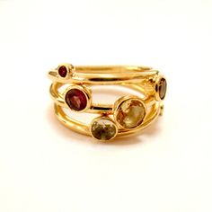 Stackable Rings Trio Vermeil, $64, now featured on Fab.
