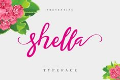 http://Shella is a modern, hand-based font. It's made up of irregularly flowing characters.