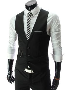 Groom's vest and shirt idea.   TheLees Mens slim fit chain point 3 button vest TheLees, http://www.amazon.com/dp/B006N1JBM8/ref=cm_sw_r_pi_dp_xPzHqb04PMN2K