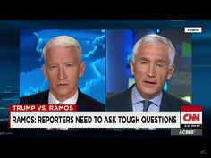 Anderson Cooper with an EARPIECE