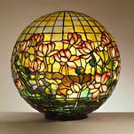 Pond Lily Globe 1900-1910    Tiffany Studios, New York  Leaded glass  Total height: 13.375 in. (33.97 cm);  diameter: 14.0 in. (35.56 cm)  Not marked  N.86.T.6