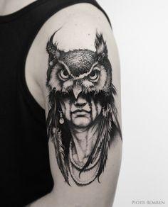 Shaman King. #sleevetattoo #bw #btattooing #ink #tattoodo #tattoos #tatuaggi #sleeve #armtattoo #blackworkerssubmission #shaman #shamantattoo #blacktattoo #darktattoo #linetattoo #linedrawing #dziara #tatuaż #tattooinspiration #入れ墨 #тату #owltattoo
