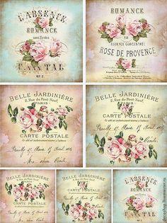 vintage decoupage 39 little bi Decoupage Vintage, Papel Vintage, Vintage Paper, Roses Vintage, Vintage Labels, Vintage Ephemera, Vintage Cards, Vintage Retro, Images Vintage