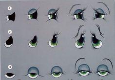 13 схем прорисовки глаз и глазок