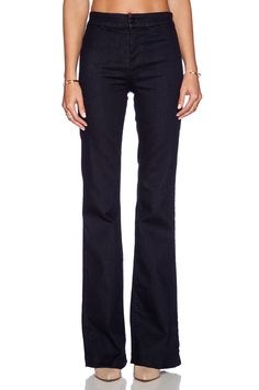 J Brand Tailored High Waisted Flare in Ink Well | REVOLVE