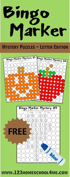 FREE Bingo Marker Mystery Letter Pages for PreK