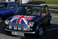 Mini Cooper. Love the detail on the hood and the rally lights.