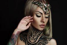 Teya Salat - Tattoo Model