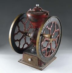 CHARLES PARKER COUNTERTOP MODEL 700 CAST IRON COFFEE GRINDER.