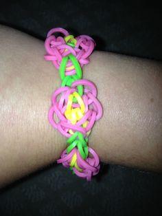 Butterfly Blossom rainbow loom bracelet.